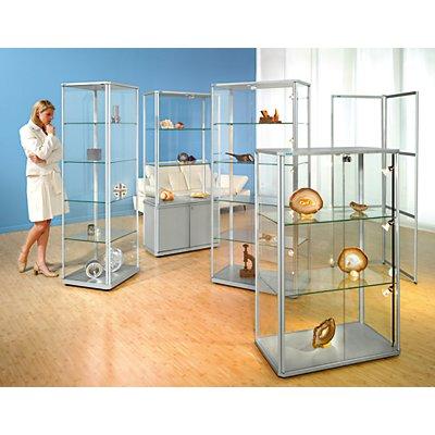 office akktiv Design-Säulenvitrine - HxBxT 1800 x 520 x 520 mm