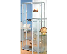 office akktiv Design-Vitrine - Rechteck-Ausführung, HxBxT 1800 x 820 x 420 mm