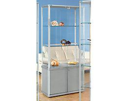 office akktiv Vitrine mit Unterschrank - HxBxT 1800 x 520 x 520 mm
