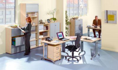 office akktiv ANNY Kombi-Schrank - 5 Fachböden, 2 Flügeltüren