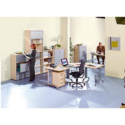 HAMMERBACHER ANNY Winkeltisch – mit Winkel von 135° - weiß | KS21/W