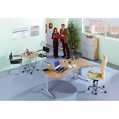 HAMMERBACHER ANNY Schreibtisch – Breite 1600 mm mit C-Fuß-Gestell