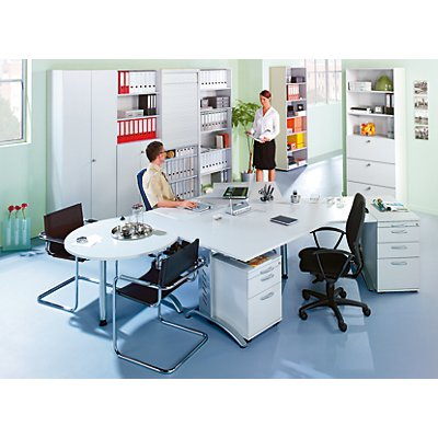 office akktiv ANNY Rollcontainer - 1 Utensilienschub, 1 Materialschub, 1 Hängeregistratur, Tiefe 553 mm