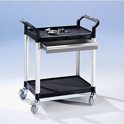 Allzweckwagen mit Schubladen - LxBxH 850 x 480 x 950 mm, 1 Schublade - 2 Etagen, Tragfähigkeit 200 kg