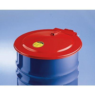 JUSTRITE Sicherheits-Fassdeckel, für 200-l-Fässer rot