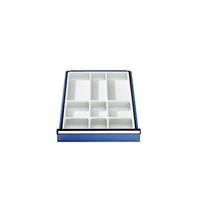 Schubladeneinteilung - Facheinsatz aus Kunststoff - für 90 mm hohe Schubladen