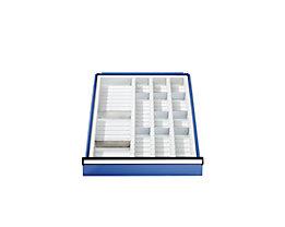 ANKE Schubladeneinteilung - Kunststoffmulden-Set - für 90 mm hohe Schubladen