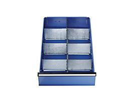 Schubladeneinteilung - Set mit 1 Längs- und 6 Querteilern - für 180 und 270 mm hohe Schubladen