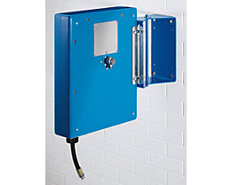 Schlauchaufroller für Luft, Wasser, Öl - mit Stahlblechverkleidung