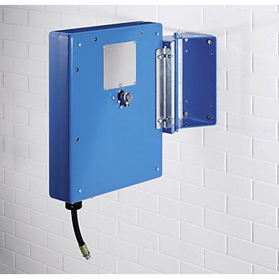 Enrouleur de tuyau pour air, eau et huile - avec revêtement en tôle d'acier