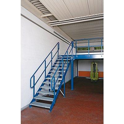 FISCHER Treppe zu Lagerbühne - Stufen aus Gitterrost