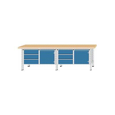 ANKE Werkbank, extrabreit - 2 Türen, 6 Schubladen mit Vollauszug