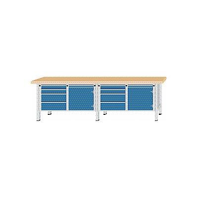 ANKE Werkbank, extrabreit - 2 Türen, 8 Schubladen mit Vollauszug
