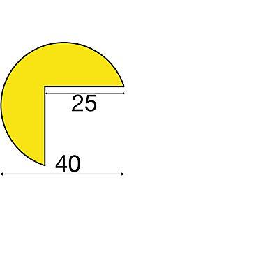 SHG Knuffi Warn- und Schutzprofil, Schutzecke - in 3D, Querschnitt Dreiviertelkreis