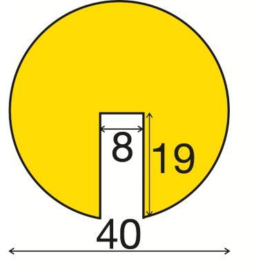 Warn- und Schutzprofil - tagesfluoreszierend / schwarz, 1 Rolle à 5 m