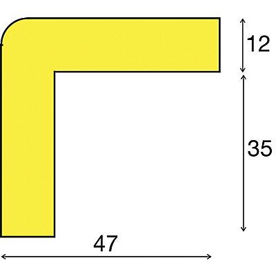 SHG Knuffi Warn- und Schutzprofil, Schutzecke - in 3D, Querschnitt L-Form groß