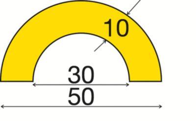 Rohrschutz - Zuschnitt individuell, pro lfd. m - Querschnitt bogenförmig klein