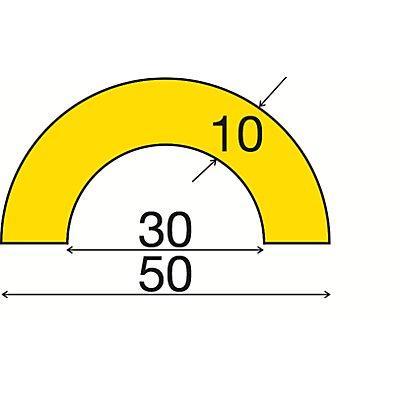 SHG Knuffi Rohrschutz in Rot / Weiß - 1-m-Stück