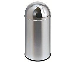 Edelstahl-Abfallbehälter Bullet-Push - Volumen 40 Liter