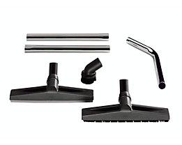 Industriereinigungs-Set - Ø 40 mm - Handrohr, Nass- und Trockendüse, PVC-Rundbürste