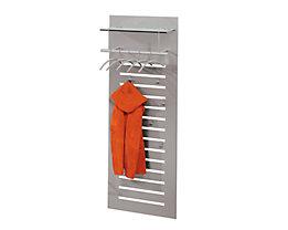 Design-Wandgarderobe - Hutablage aus Sicherheits-Klarglas