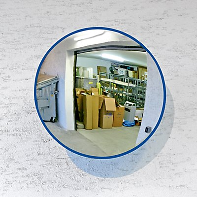 EUROKRAFT Universal-Spiegel für innen und außen - rund, Wandhalterung