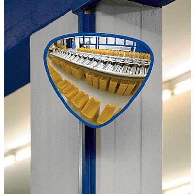 EUROKRAFT Kontrollspiegel, dreieckig - aus Acrylglas - BxH 380 x 310 mm