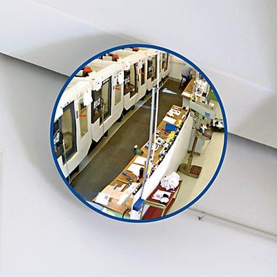 EUROKRAFT Rundspiegel mit Teleskop-Wandarm - mit Magnethalterung