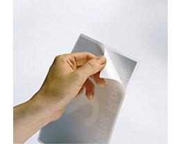 GBC Laminiertaschen, selbstklebend - Folienstärke 125 µm - für DIN A4, VE 100 Stk