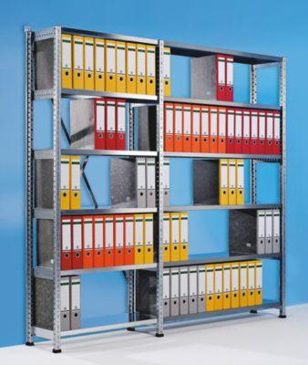 Ordner- und Archiv-Steckregal, verzinkt - Höhe 2640 mm, einseitig
