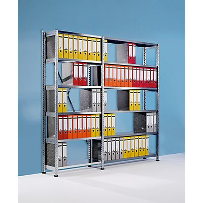 Scholz Ordner- und Archiv-Steckregal, verzinkt - Höhe 2280 mm, einseitig