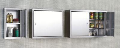 Edelstahl-Hängeschrank - HxBxT 600 x 350 x 320 mm - 1 Fachboden