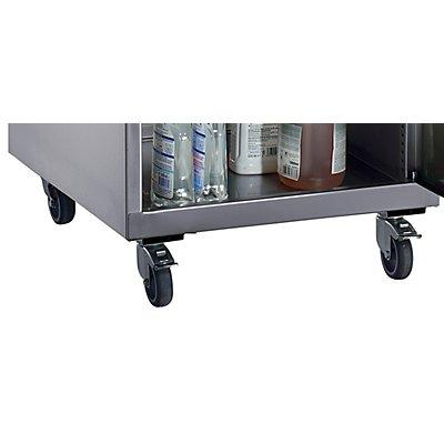 Fahrsatz aus Edelstahl - für Werkzeugschrank 500 x 500 mm - Mehrpreis