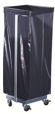 Abfallsacksammler - für 1 x 120-l-Sack, fahrbar - HxBxT 985 x 370 x 330 mm