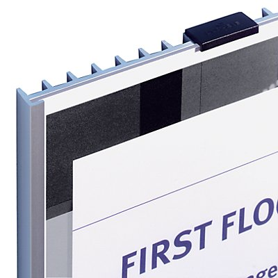 Durable Türschild, Rippenoptik mit Acrylplatte - mit Kartoneinlage - BxH 149 x 106 mm, VE 5 Stk