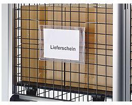 Dokumententaschen mit Drahtbügel - mit Regenschutzklappe - für Format DIN A5, VE 100 Stk