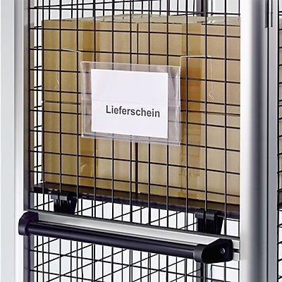 Dokumenten-Einstecktasche - mit Drahtbügel und Regenschutzklappe