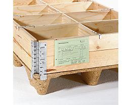 Dokumententaschen mit Falz - Griffaussparung rückseitig, Einschub seitlich - für DIN A5, VE 100 Stk
