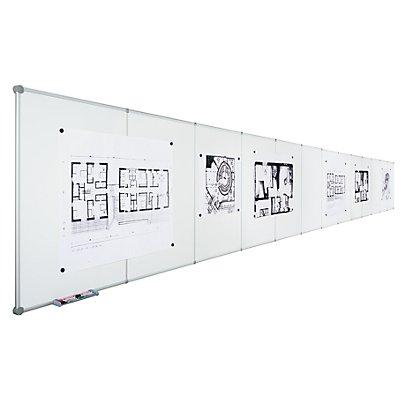 Endlos-Whiteboard - Stahlblech emailliert, Querformat