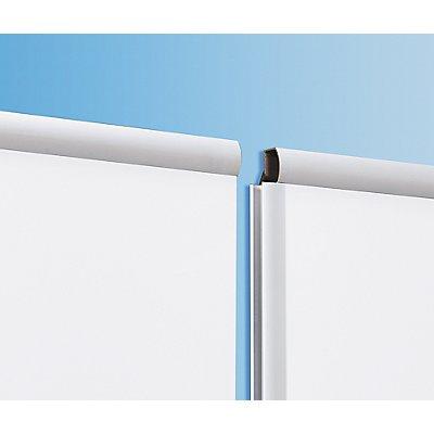 Tableau extensible - tôle d'acier émaillée, format vertical