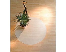 Bodenschutzmatte aus Recycling-Polycarbonat - für harte Böden, kreisrund