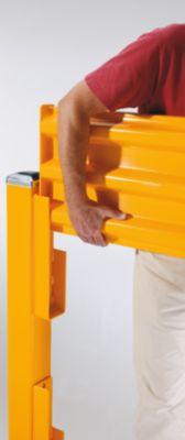 Rammschutzwand, Höhe 480 mm - 1 Wandelement, Länge 762 mm