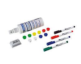 Zubehörset - für Whiteboard - 10 Magnete, 4 Marker, 1 Trockenwischer, 1 Reiniger