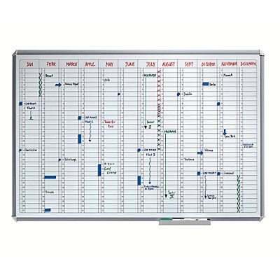 Smit Visual Jahresplaner SILVERLINE - im Ganzjahresformat - BxH 900 x 600 mm