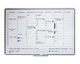 Wochenplaner Magnettafel mit 7-Tage-Einteilung bei Certeo