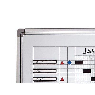 Smit Visual Jahresplaner - BxH 1200 x 900 mm - mit Halbjahres- und 365-Tage-Einteilung