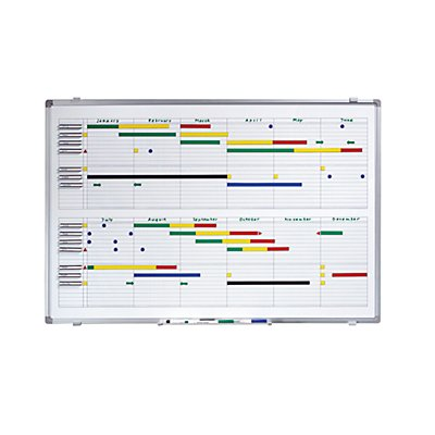 Smit Visual Jahresplaner - BxH 900 x 600 mm - mit Halbjahres- und 365-Tage-Einteilung