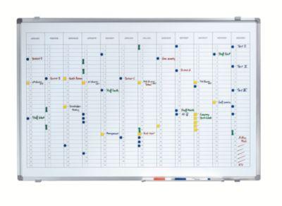 Jahresplaner - mit senkrechter Monatseinteilung BxH 900 x 600 mm