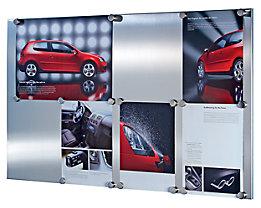 Tableau magnétique design en acier, brossé mat, replié huit fois.