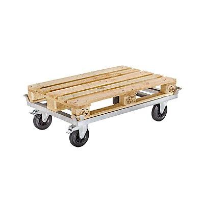 Paletten-Fahrgestell KOMFORT - Stahl, Tragfähigkeit 500 kg, ab 5 Stk